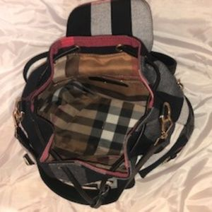 Bags - Blue & Red Plaid Backpack Purse - GREAT SHAPE!